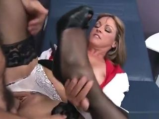 Godly light-haired mommy Shayla LeVeaux in medical hookup vid