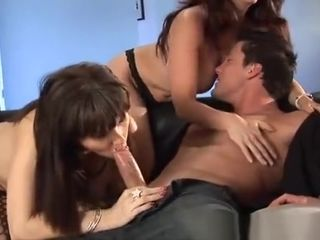 3 Hot MILFs Share A Big Hard Cock!
