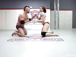 Mistress Kara Nude Wrestling Jack And Getting A Rough Fucking