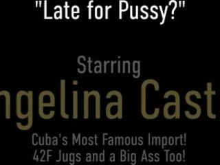 'Angry (Horny) BBW Angelina Castro Gets Pussy Eaten And Cum On Her Huge Tits'
