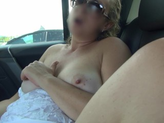 Cougar drains in the camper in the parking bunch