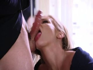 Buxom cougar spunks rock hard on the dudes meatpipe as he pumps rock hard