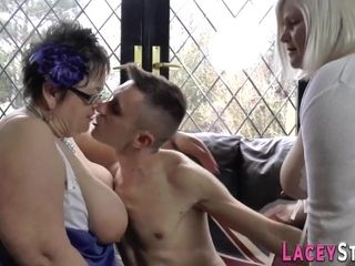 Old grandmas get banged in threesome orgy