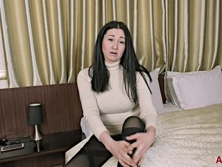 Nice brunette MILF Liliya Interview