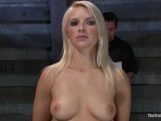 Slave Tied To The Metal Chair And Tortured With A Hitachi Wand With Anikka Albrite