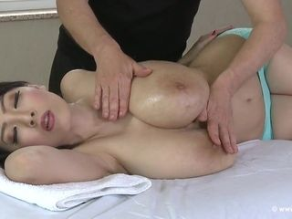 Japanese huge-chested cougar Getting A rubdown