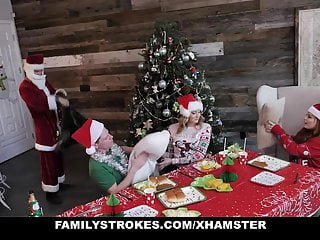 FamilyStrokes - Hardcore Family Fucks For Christmas