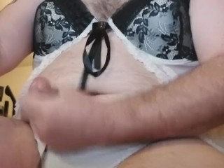 Dressed in my wife's undies and fapping Part13