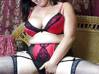Gorgeous mature mother with unshaved beaver and ginormous funbags