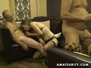 Amateurs hoes in a homemade fuck-a-thon group fuck-a-thon